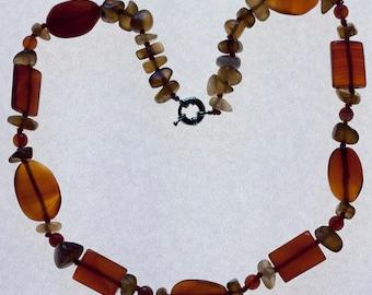 Women's Necklace Stone Serdolik - Natural Stone Necklace - Necklace for Women