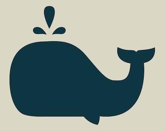 Whale. Whale stencil. Adhesive vinyl stencil. (ref - 227 GM)