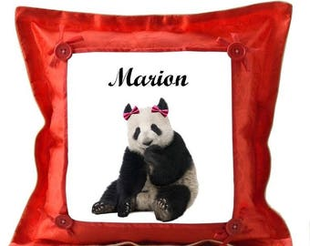Red Panda personalized with name cushion