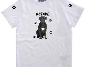T-shirt boy Cane corso personalized with name
