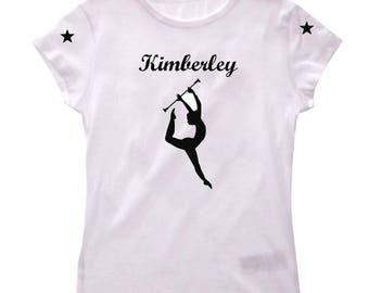 T-shirt girl cheerleader personalized with name