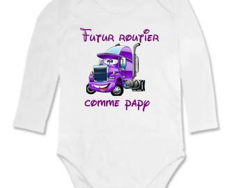 Bodysuit future road as Grandpa personalized with name