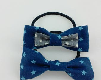 Elastic bow tie with stars