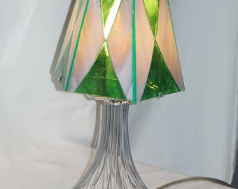 Stained glass on foot, stained glass lamp, Glasmalerei Stehlampe floor lamp