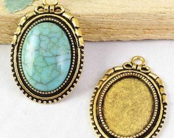 25 * 18mm; medium gold knot ring 25 * 18mm antique decor