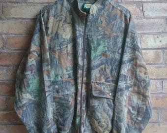 Vintage camouflage bomber jacket
