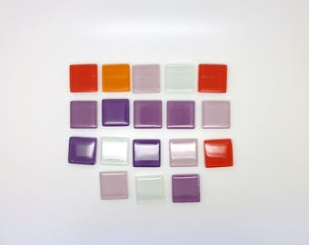 Mosaique, tesselle, verre, multicolore