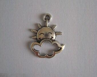 Sun, cloud charms