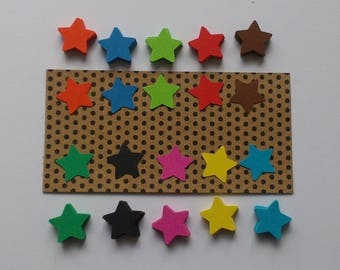 Set of 200 cuts paper star bright, size 1.5 cm