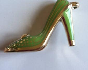 Shoes: Green and gold