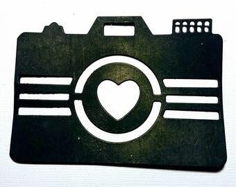 Camera for scrapbooking die cut