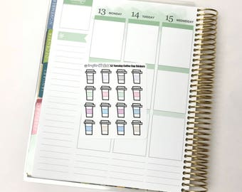 Coffee Cup Stickers || TWO DOLLAR TUESDAY Stickers for the Erin Condren Life Planner, Happy Planner and More!