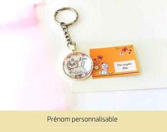 Name of the Aristocats Marie personalized Keyring