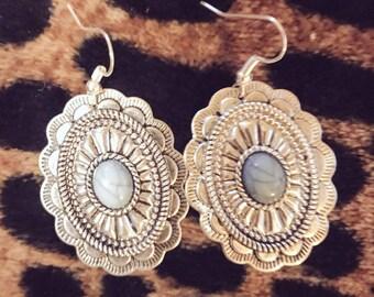 Turqouise Concho Earrings
