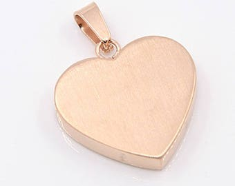 Stainless steel Heart Locket rose gold color