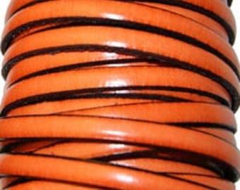 20 cm Strip 5 mm orange leather