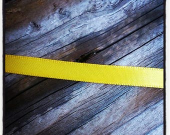 Yellow 10 mm satin ribbon