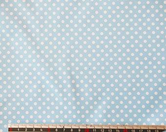 "PASTEL blue pvc coated fabric * waterproof * pattern ""Dots"""