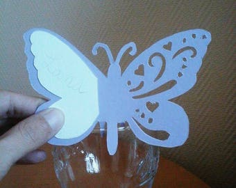 Mark up Butterfly purple and white glass