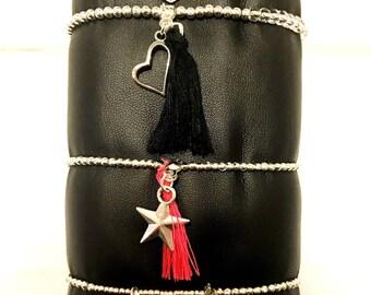 Very fine silver bracelet style Doriane
