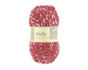 wire INDY knitting color tile No. 114 white horse