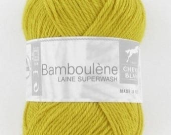 Yarn BAMBOULENE No. 101 horse white sunflower yellow