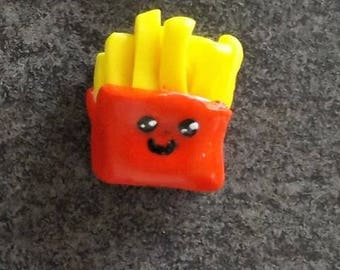 Frit polymer clay magnet