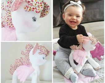 "Stuffed plush Unicorn or pony pony ""little pony"""