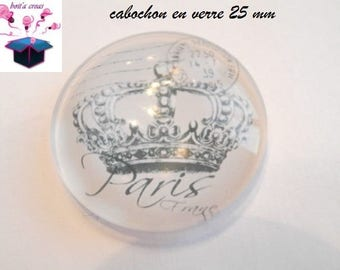 1 cabochon clear 25 mm Paris 1900 theme