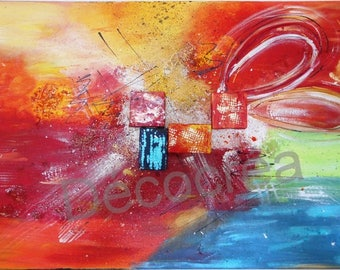 "Abstract painting ""Colorful rash"""