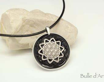 Capsules Nespresso necklace * flower of life *.