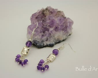 Earrings and Amethyst stones