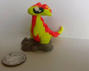 Porcupine polymer clay dragon