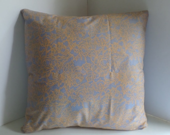 Square Pillow Cover, 20x20 inches, Zipper Closure, Lace-like Floral African Fabric Sham