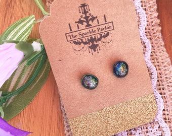 Dichroic Glass Earrings