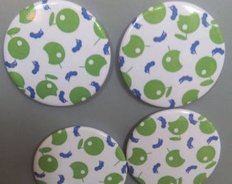 Apple and chenille pattern magnets