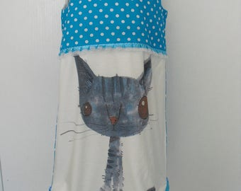 "Dress ""Little cat"" T 4/5 years"