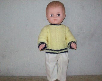 clothing dolls from 40 cm, pants and sweater, compatible Michel of fashions and work, n: 6