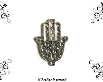 Charm Hamsa (Fatma hand) 35mm x 24mm color silver * to the unit *.