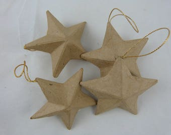 Set of four cardboard stars to decorate