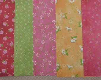 Assortment of papers with small flowers