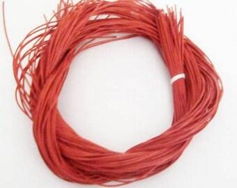 Orange leather lace (5x1m)