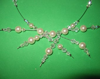 gorgeous bridal Crystal Necklace and pearl beads