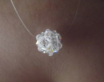 crystal color swarovski Pearl pendant.