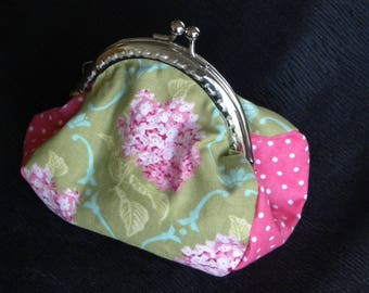 vintage pink and green purse