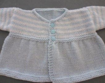 Vest/jacket/coat hand knitted baby