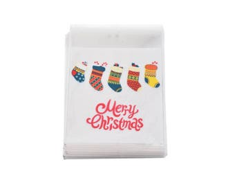 10 sachets bags pouches Father Christmas gift 11x10cm within 15 days