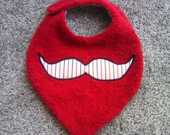 Red pattern striped mustache
