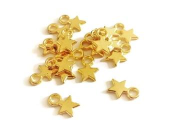 20 stars gold gilded, 10x8mm - V5