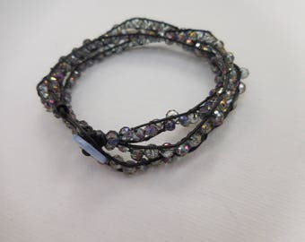 The Lola - Purple Beaded Wrap Bracelet